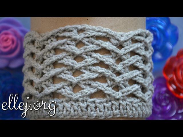 ♥ Рельефный узор крючком Чайки • Вязание по кругу, схема • Seagulls Crochet Stitch • ellej.org