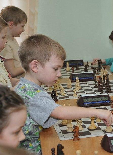 На снимке: Егор Сергеев - пятилетний шахматист.