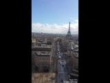 Above Arc de Triomphe Avenue des Champs