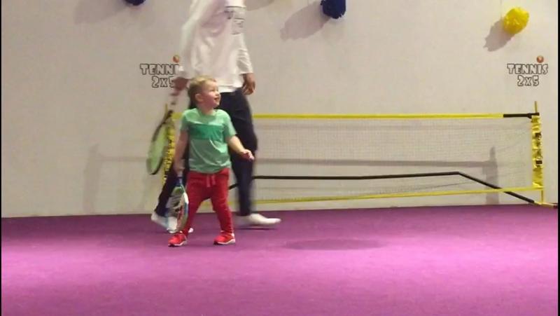 Игровой метод обучения деток 2,7 лет по программе TENNIS 2x5