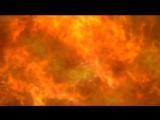 Abstract explosion fire on black background. Fire Огонь. Фон, футаж, заставка для видеомонтажа