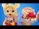 Игры для девочек: кукла Беби Элайв Леся кушает и какает. Меняем подгузник Новая серия