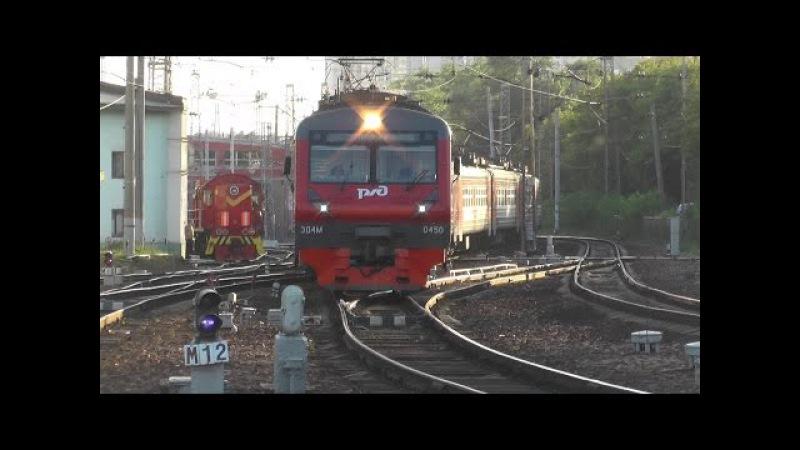 Электропоезд ЭД4М-0450 станция Москва-Пассажирская-Смоленская