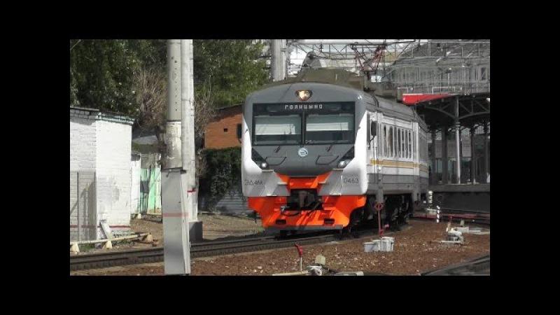 Электропоезд ЭД4М-0463 ЦППК станция Москва-Пассажирская-Смоленская