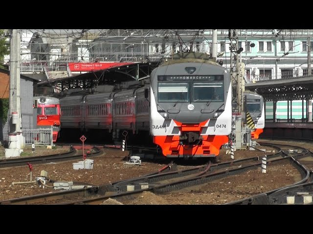 Электропоезд ЭД4М-0474 ЦППК станция Москва-Пассажирская-Смоленская