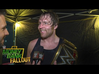 Who does Dean Ambrose credit for helping him win the WWE World Heavyweight Title?: June 19, 2016