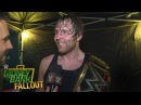 Who does Dean Ambrose credit for helping him win the WWE World Heavyweight Title
