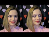Нежный макияж на День всех влюбленных. St. Valentines Day makeup tutorial