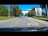 Момент ДТП с ребёнком на велосипеде в Архангельске.