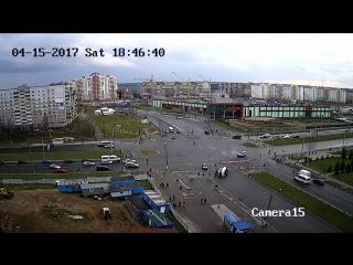 Авария Витебск перекресток Чкалова - Воинов-Интернационалистов