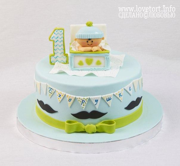 Торт на годик с малышом, 2,5 кг cake