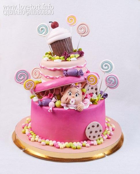 """Торт на годик """"Коробочка со сладостями"""", 8 кг cake"""