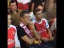Джака в Косово с болельщиками Арсенала