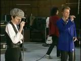 David Bowie and Annie Lennox singing Under Pressure