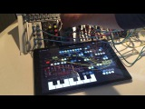 patching ipad and eurorack via ES8 and play audio units in zmors modular with ableton link