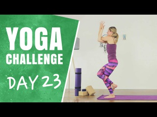 Standing Eagle Yoga Flow - Day 23 - The 30 Days of Yoga Challenge