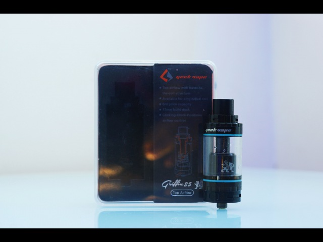 Live review GeekVape Griffin 25 RTA Top Airflow (обзор на бак GeekVape Grifin 25)