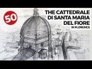 Copule of Santa Maria Del Fiore by Filippo Brunelleschi Architecture Drawings 50