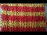 Резинка двухцветная. Мастер-класс. Two-color knitting gum. Tutorial.