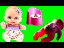 Куклы Пупсики Пупс обкакался и купается Какает не на горшок Малыши какают Игрушки для девочек