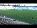 Soccer technical warm up .... Passes in pairs