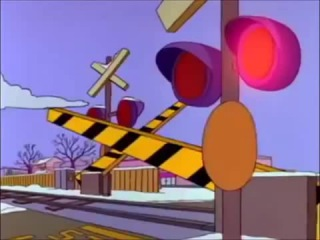 Homer Escaping Flanders - Car Chase