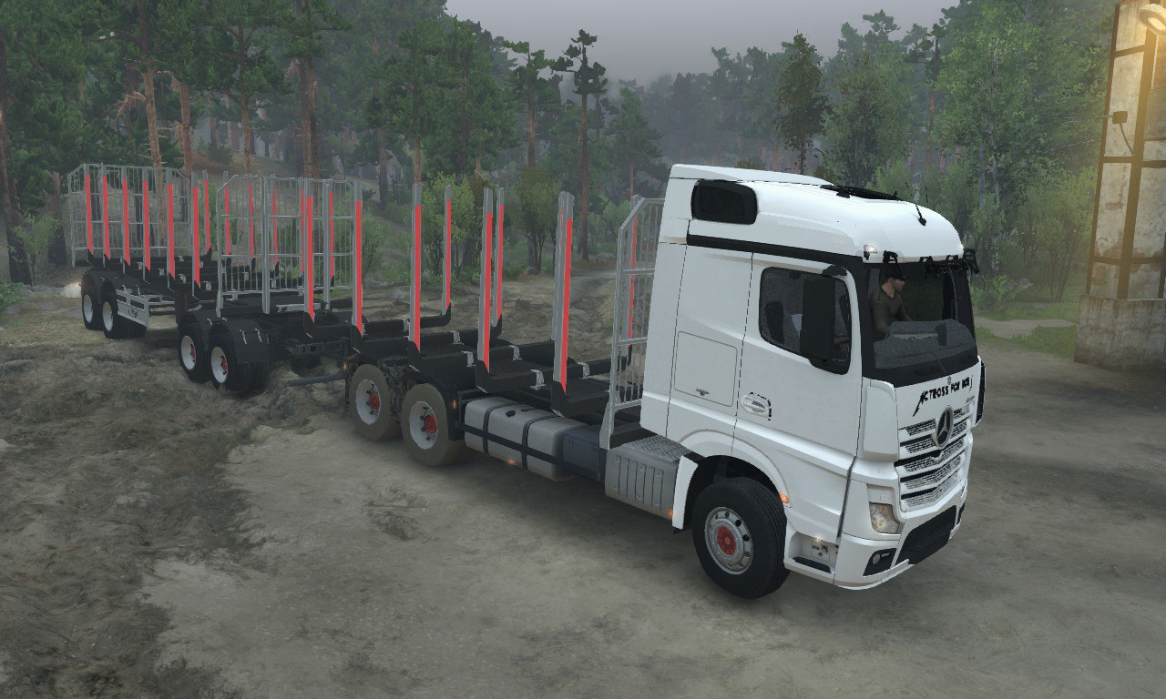 Mercedes Benz Actros MP4 AFB для 03.03.16 для Spintires - Скриншот 1