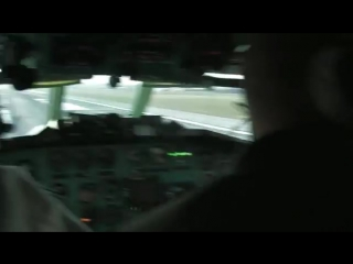Tu154m belavia, cockpit video from flight to minsk..