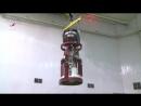 Транспортный пилотируемый корабль «Союз МС-04» проходит испытания на герметичность в вакуумной камере на космодроме Байконур.