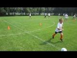 Дневная тренировка на летних футбольных сборах 27 июля