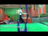 Воздушная гимнастика Naused. Александр Бобрусов. Прогиб и продольный шпагат.