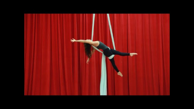 Secretary Drop Aerial Silk Tutorial with Aerial Physique
