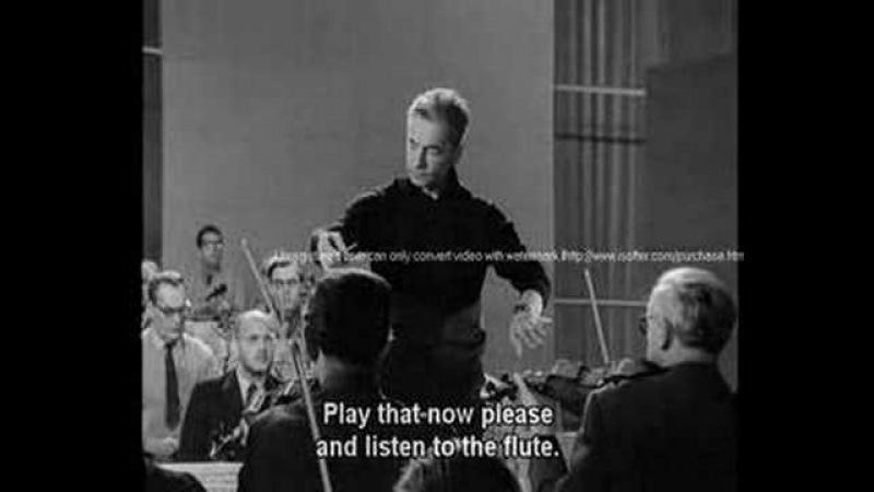 Karajan - Rehearsal of Schumann's 4th Symphony - Part 1