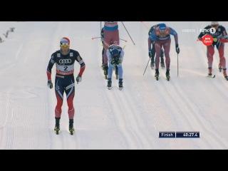 Martin Jonsrud Sundby wins 15km [C] - Tour De Ski 2017 - Stage 6 - Val Di Fiemme