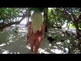 Шикарная порнозвезда и модель Kissa Sins и ее обалденная попка на пляже! Большая жопа Порно секс блондинка