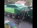 Çöp toplama kamyon robot