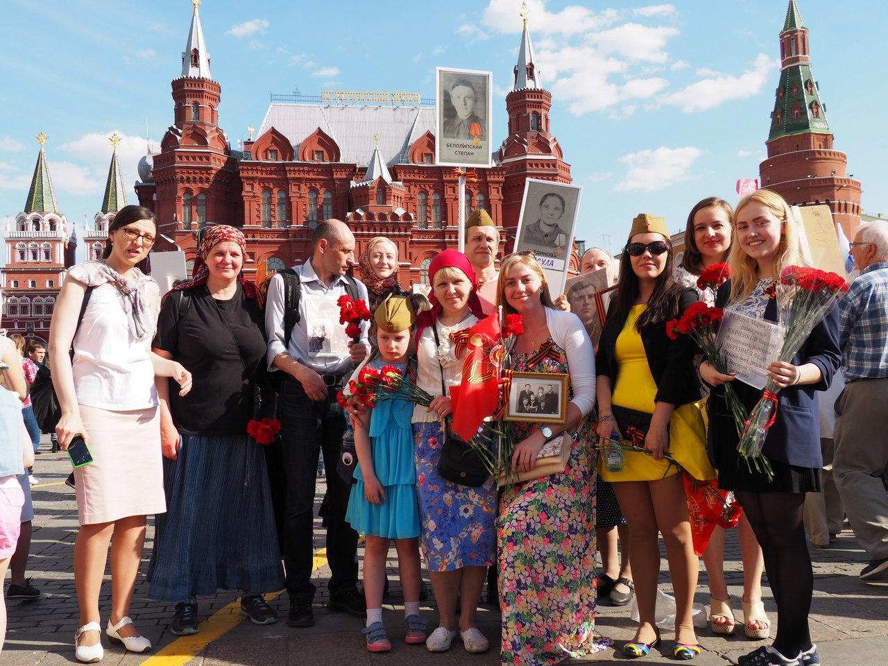 Молодежный актив храма иконы Божией Матери «Знамение» в Захарьино принял участие в праздничном шествии Бессмертного полка