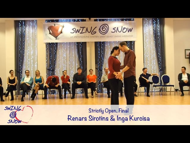 Swing and Snow 2017. Strictly Open. Final. Renars Sirotins Inga Kurcisa