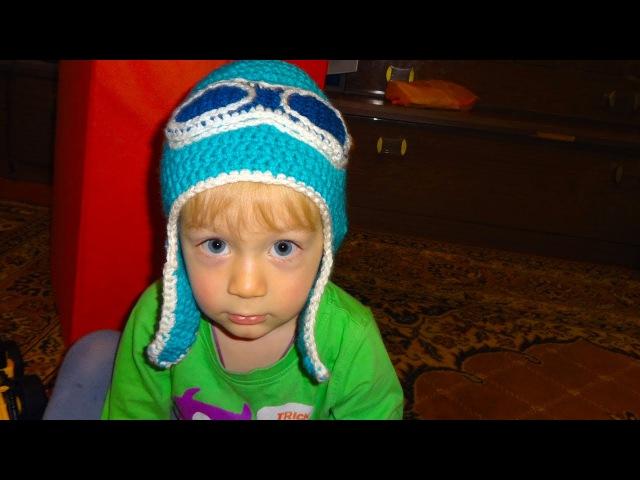 Как связать шапочку (шапку) Шлем для ребенка крючком