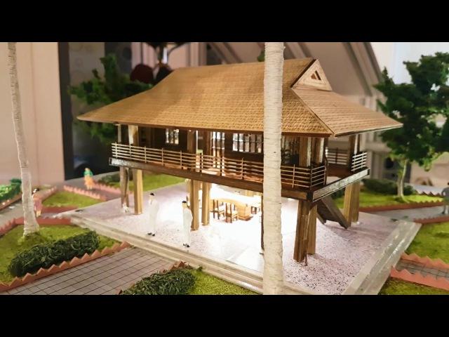 Макет Дома Хошимина (mo hinh nha san bac Ho Chi Minh)