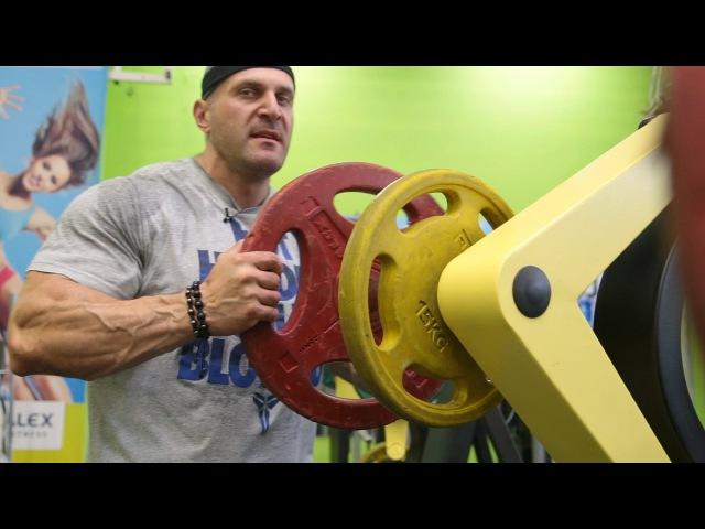 Паата Петриашвили (бодибилдинг, 100 кг). Тренировка груди в предсоревновательный период