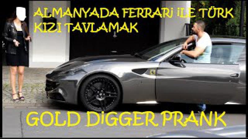 Almanyada Ferrari ile Türk Kizi Tavlama (Gold Digger Turkish in Germany)