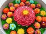 3D цветы в желе SUPERR 3D gelatin Art Cactus Flower Gelatinas Artistic