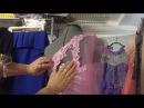 Вышивка на швейной машинке👗Декор платья/ Метод наколки 👗Sewing Embroidery👗Nähmaschine Stick...