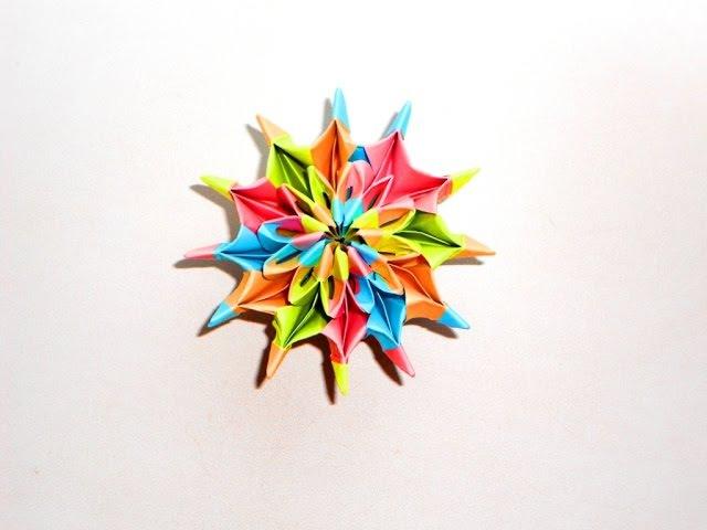 Игрушка оригами из бумаги: фейерверк, калейдоскоп, салют