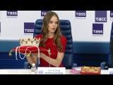 Пресс-конференция Яны Добровольской и Юлианы Корольковой