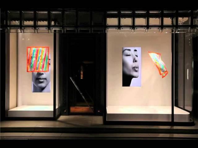 Кинетическая витрина Maison Hermès (Tokujin Yoshioka)