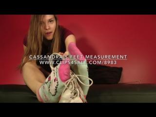 Cassandra's Feet Measurement - www.c4s.com/8983/16775872