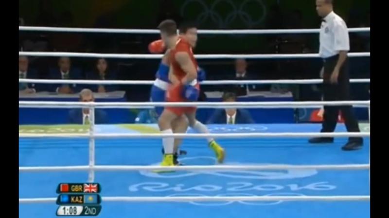 Daniyar Yeleussinov KAZ Josh Kelly GBR Олимпиские игры 2016 Бокс Моменты боя