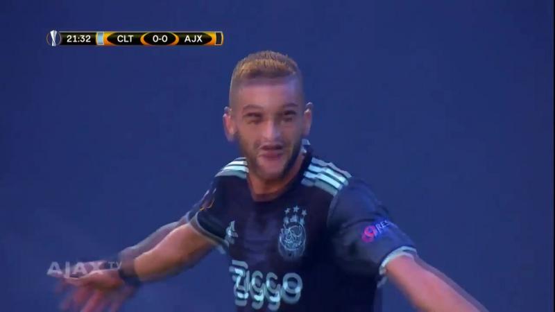 Ziyech zet Ajax op 1-0 tegen Celta de Vigo